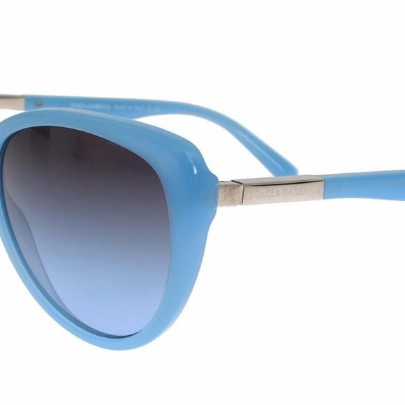 26350704336e NWT DOLCE   GABBANA Blue Round Plastic Sunglasses